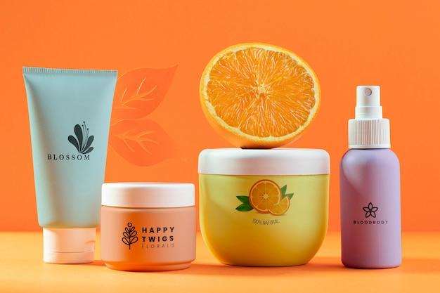 Produkty Kosmetyczne Z Pół Pomarańczy Darmowe Psd