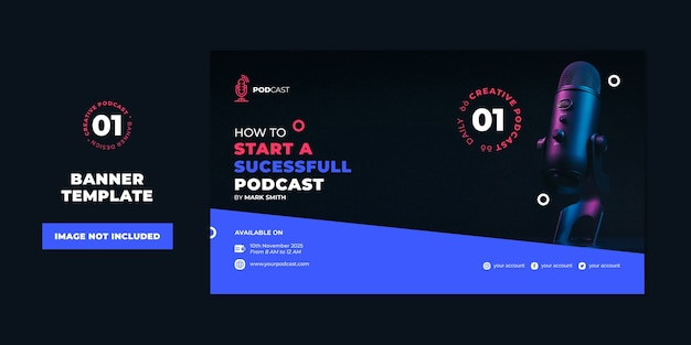 Profesjonalny Szablon Podcastu Szablon Podcastu Premium Psd