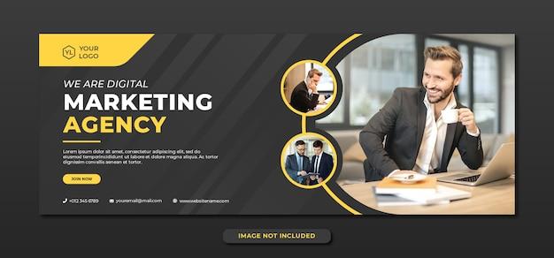 Profesjonalny Szablon Transparentu Agencji Marketingu Cyfrowego Premium Psd