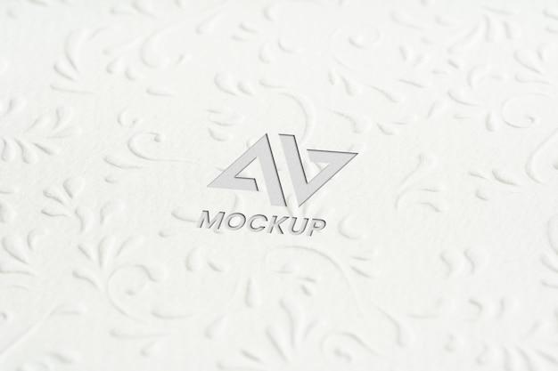 Projekt Logo Makiety Litery Na Minimalistycznym Białym Papierze Premium Psd