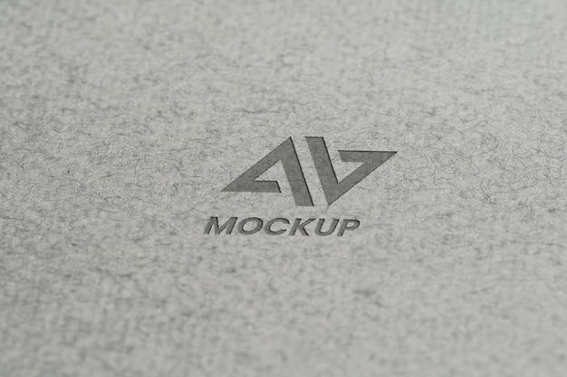 Projekt Logo Makiety Litery Na Minimalistycznym Papierze Premium Psd