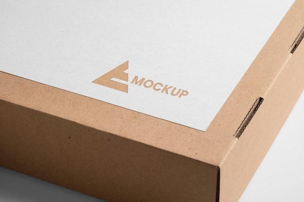 Projekt Logo Makiety Na Kartonowym Pudełku Darmowe Psd