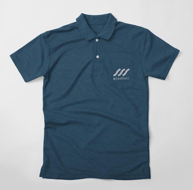 Projekt Makiety Koszulki Polo Na Białym Tle Z Kieszenią Premium Psd