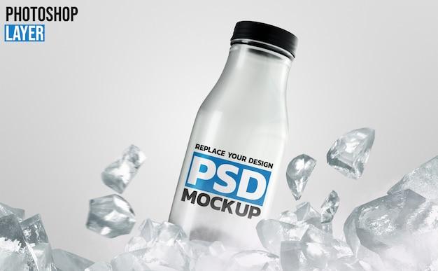 Projekt Makiety Szklanej Butelki Premium Psd