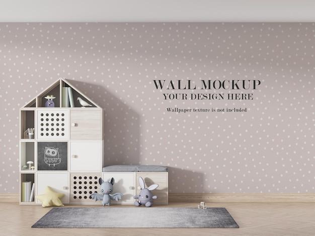 Projekt Makiety Tapety Wnętrza Pokoju Dziecięcego Premium Psd