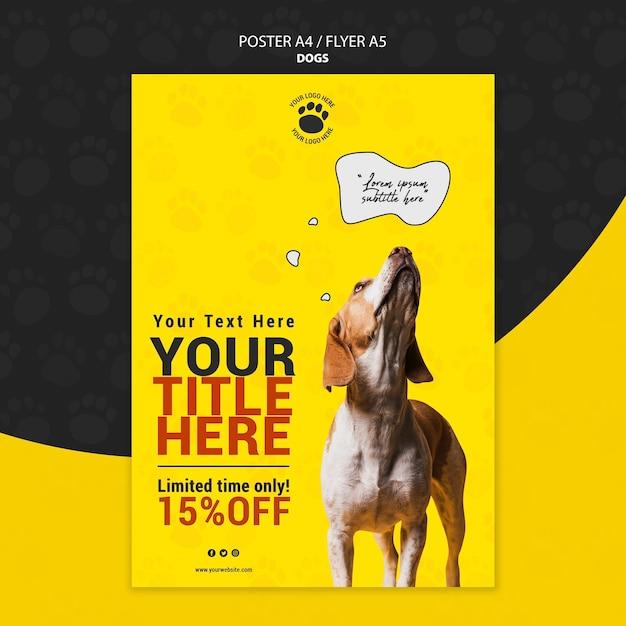 Projekt Plakatu Słodkie Zwierzę Darmowe Psd