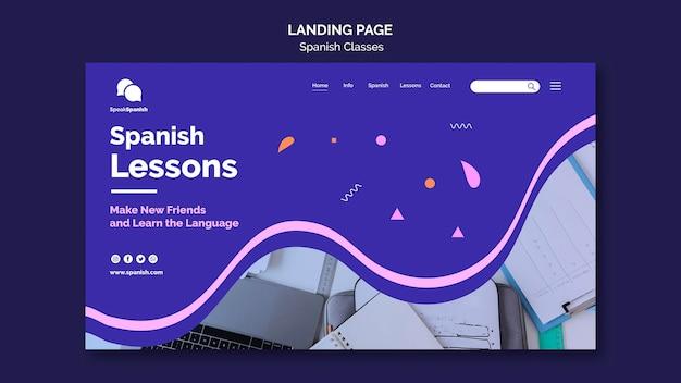 Projekt Strony Docelowej Lekcji Hiszpańskiego Darmowe Psd