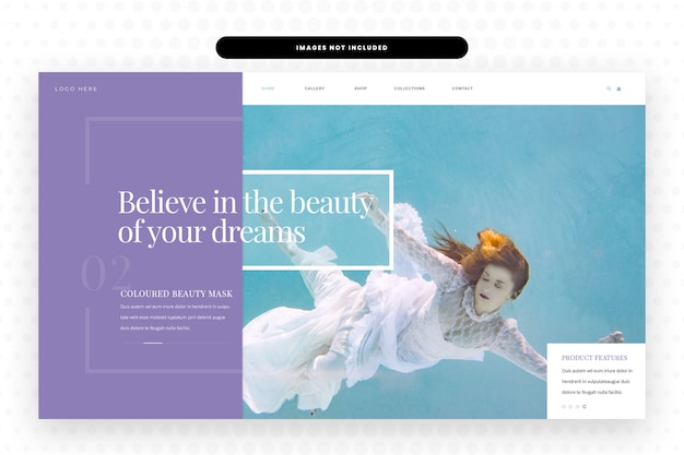 Projekt Strony Internetowej Passion Dreams, Hero Banner, Szablon Sieci Web Premium Psd