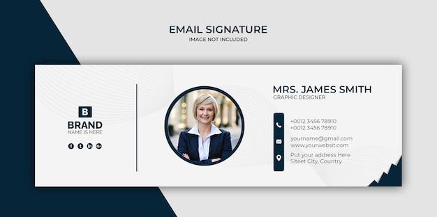 Projekt Szablonu Podpisu E-mail Lub Stopka Wiadomości E-mail I Osobista Okładka Na Media Społecznościowe Premium Psd