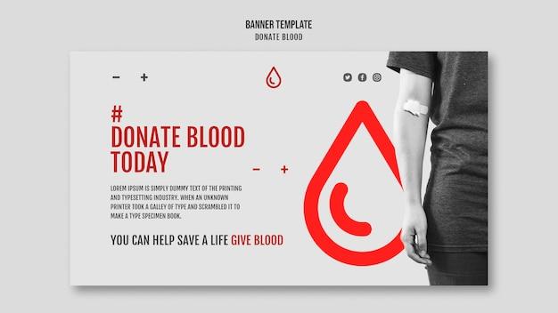 Projekt Transparentu Kampanii Oddawania Krwi Darmowe Psd