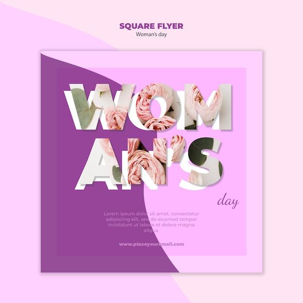 Projekt Ulotki Kwadratowy Dzień Kobiety Darmowe Psd