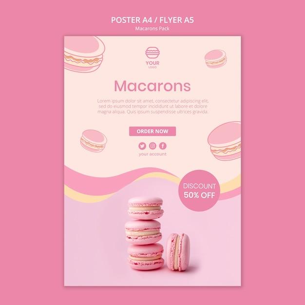 Projekt Ulotki Macarons Darmowe Psd