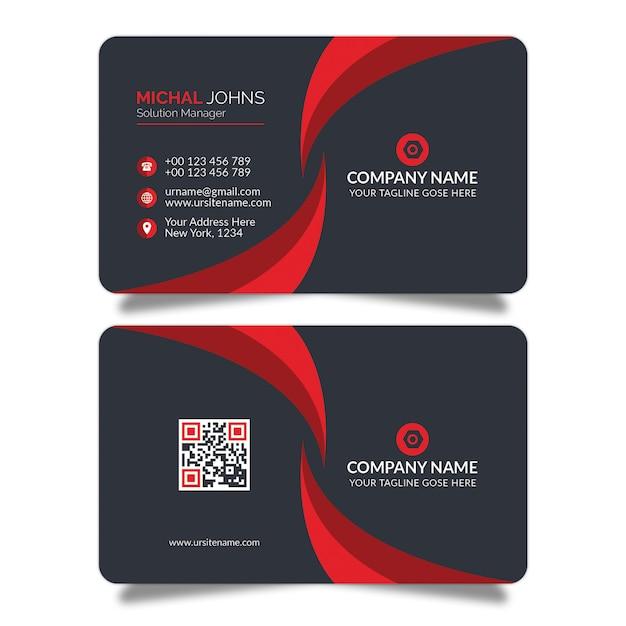Projekt wizytówki czerwony kształt psd Premium Psd