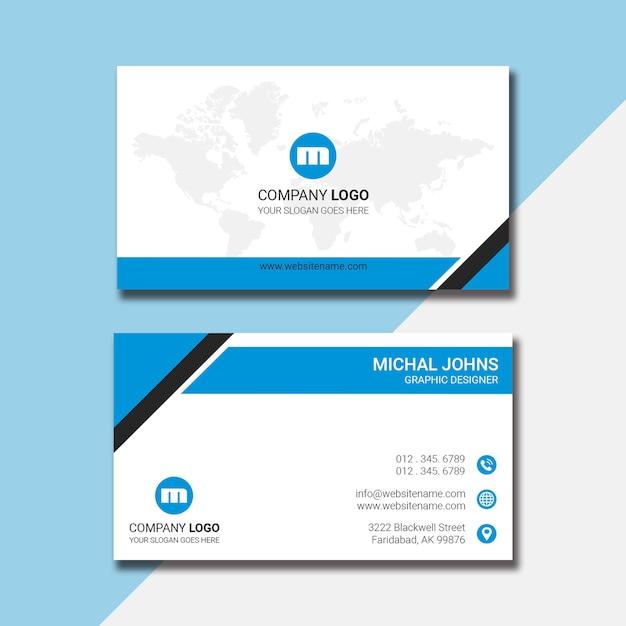 Projekt wizytówki korporacyjnej Premium Psd