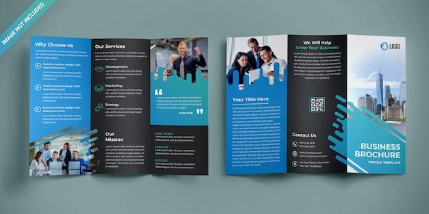 Projektowanie Broszur Biznesowych Trifold Premium Psd