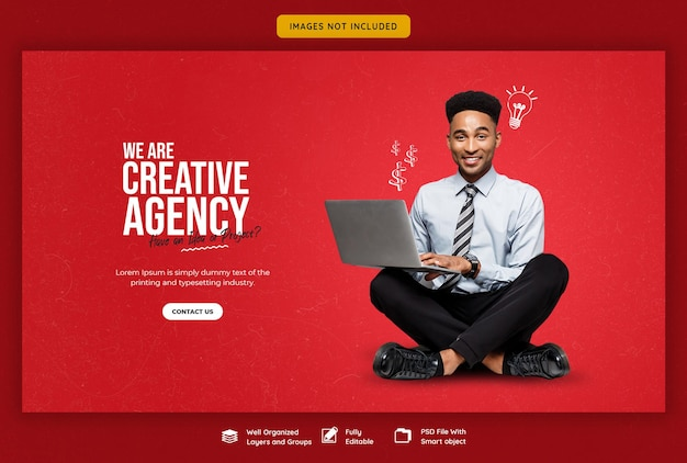 Promocja Firmy I Kreatywny Szablon Banera Internetowego Darmowe Psd