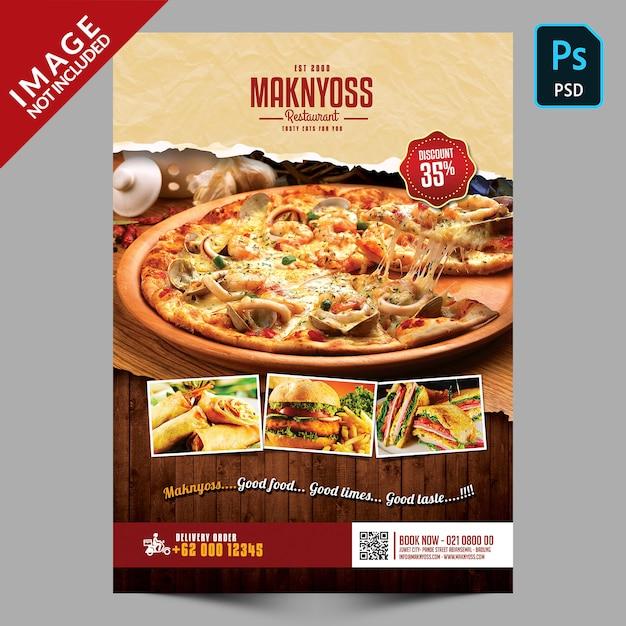 Promocja food flyer dla restauracji Premium Psd