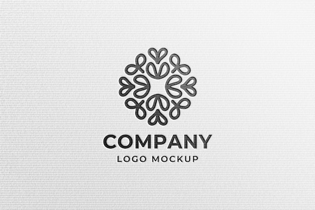 Proste Nowoczesne Czarne Logo Makieta Na Białym Papierze Prasowanym Premium Psd