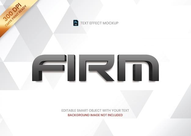 Prosty elegancki luksusowy ciemny gradient 3d logo tekst efekt szablonu Premium Psd