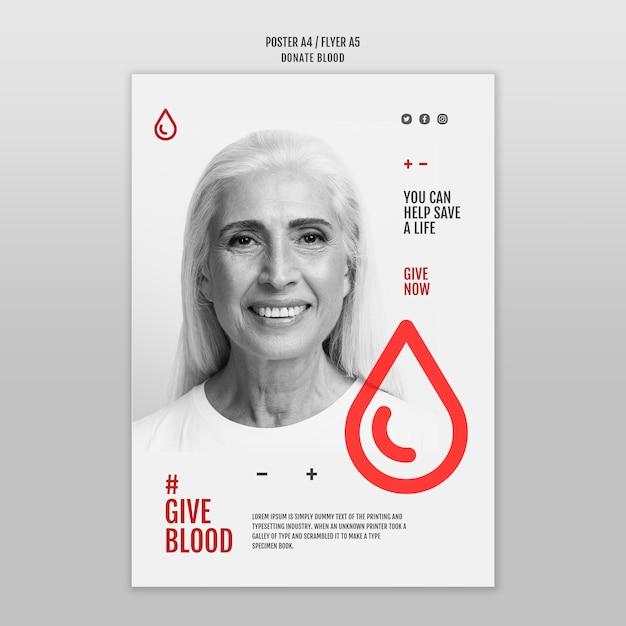Przekaż Styl Szablonu Ulotki Krwi Darmowe Psd