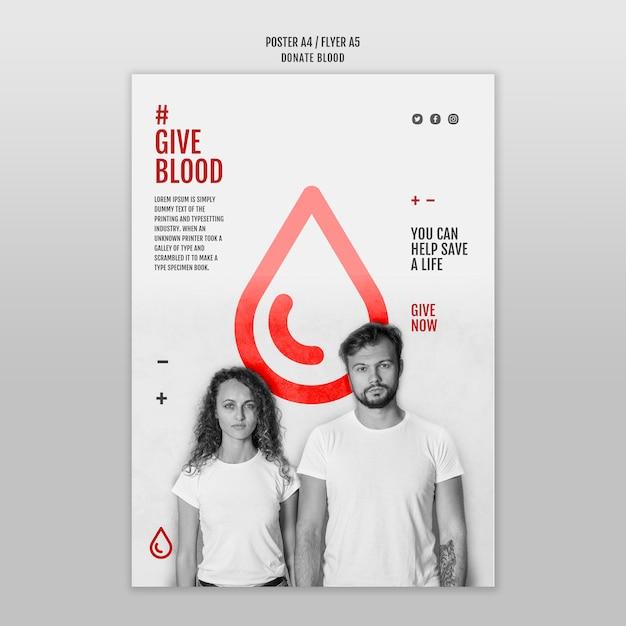 Przekaż Szablon Ulotki Krwi Darmowe Psd