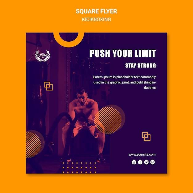 Przekrocz Granice Szablonu Ulotki Kickboxing Darmowe Psd