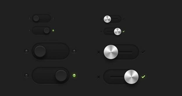 Przełączników i przełącza przyciski psd Darmowe Psd