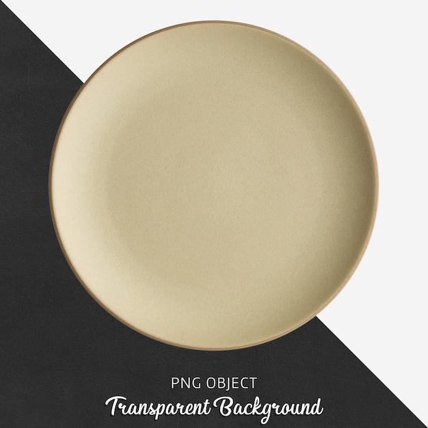 Przezroczysta Beżowa Ceramiczna Lub Porcelanowa Okrągła Płyta Premium Psd