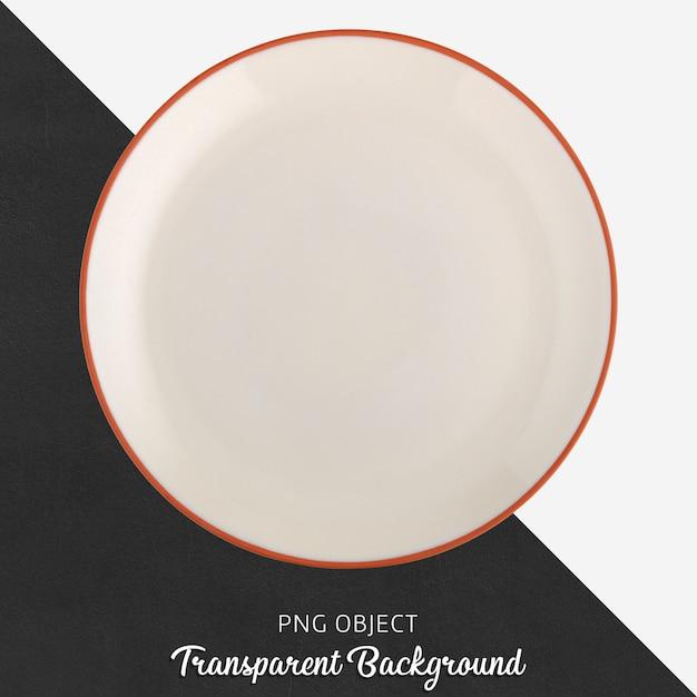 Przezroczysta biała ceramiczna lub porcelanowa okrągła płyta Premium Psd
