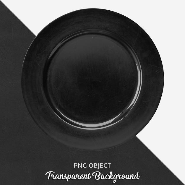 Przezroczysta czarna płyta do serwowania Premium Psd