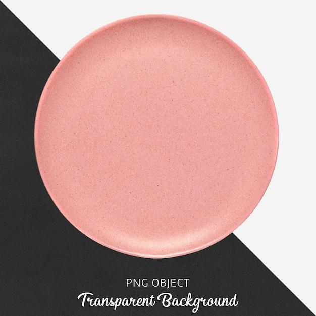 Przezroczysta różowa ceramiczna lub porcelanowa okrągła płyta Premium Psd