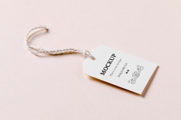 Przywieszka Z Ceną Z Rabatem Na Różowym Tle Premium Psd
