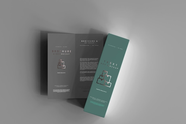 Pudełko Z Makietą Broszury Bi-fold Darmowe Psd