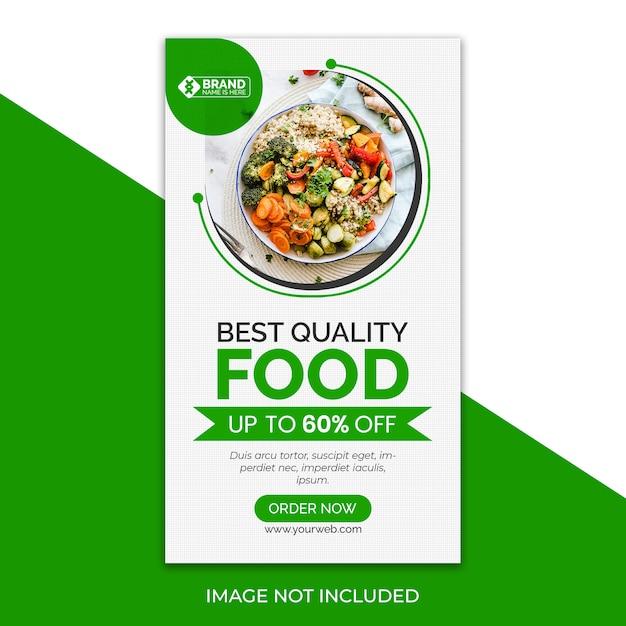 Pyszne Jedzenie Instagram Story Premium Psd