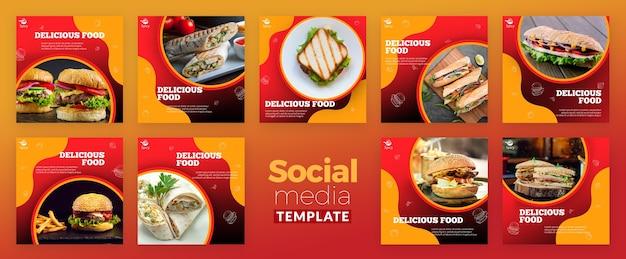 Pyszne Jedzenie W Mediach Społecznościowych Darmowe Psd