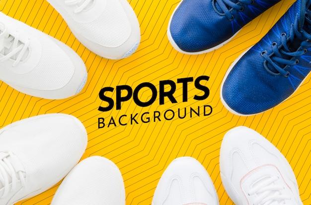Rama Butów Sportowych Z Makietą Darmowe Psd