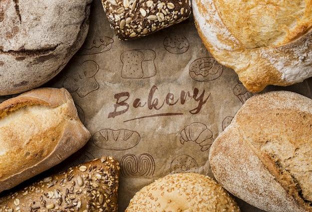 Rama świeży Chleb Na Stole Darmowe Psd