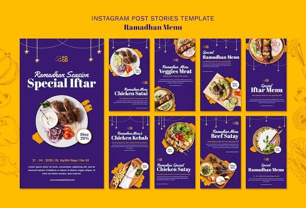 Ramadahn Menu Instagram Historie Premium Psd
