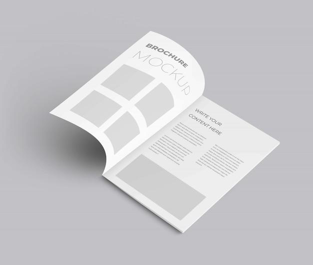 Realistyczna makieta broszury Premium Psd
