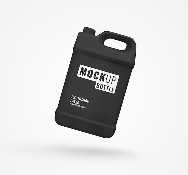 Realistyczna Makieta Czarnej Butelki Na Galon Detergentu Premium Psd