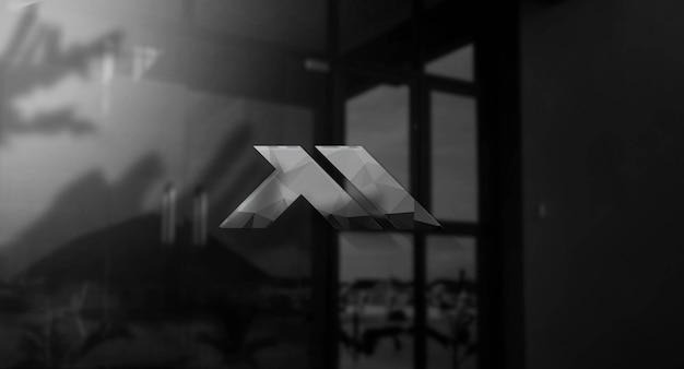 Realistyczna Makieta Logo 3d Na ścianie Premium Psd