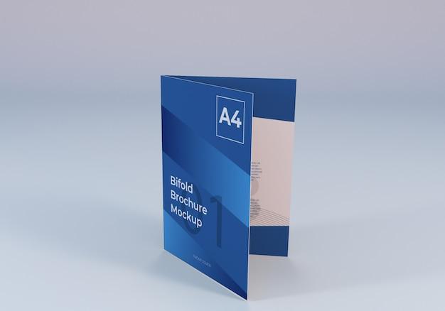 Realistyczna Makieta Papieru Bifold Bifold Premium Psd