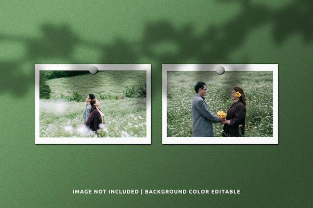 Realistyczna Makieta Papieru W Ramce Papieru Krajobrazowego Premium Psd