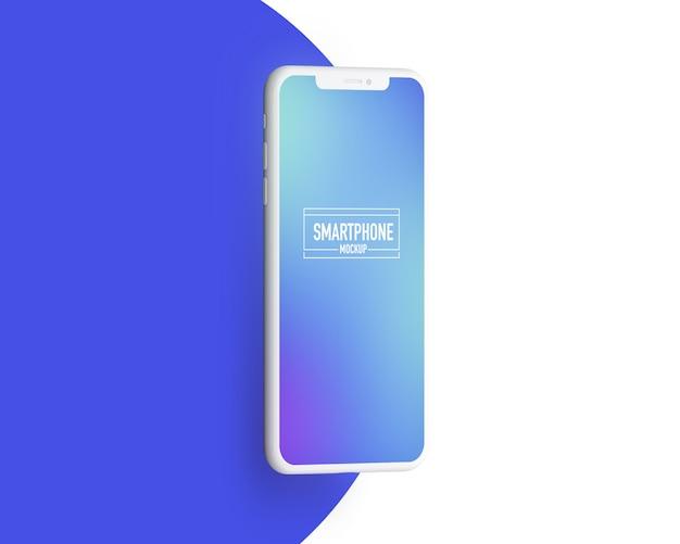 Realistyczna makieta smartfona. wyczyść makietę smartfona Premium Psd