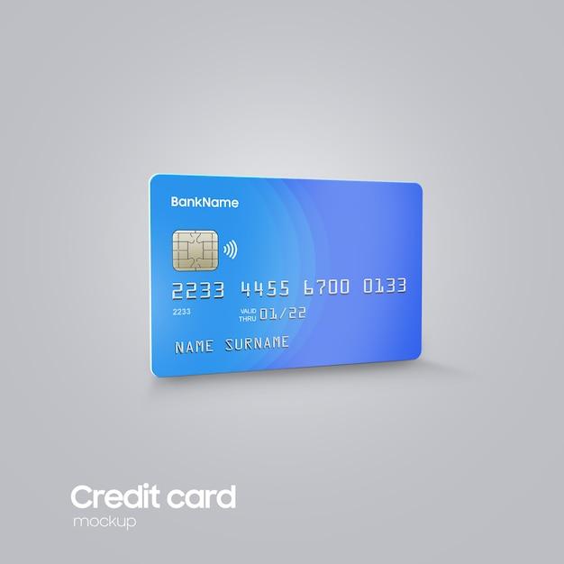Realistyczna Plastikowa Karta Pod Ręką Makieta Premium Psd
