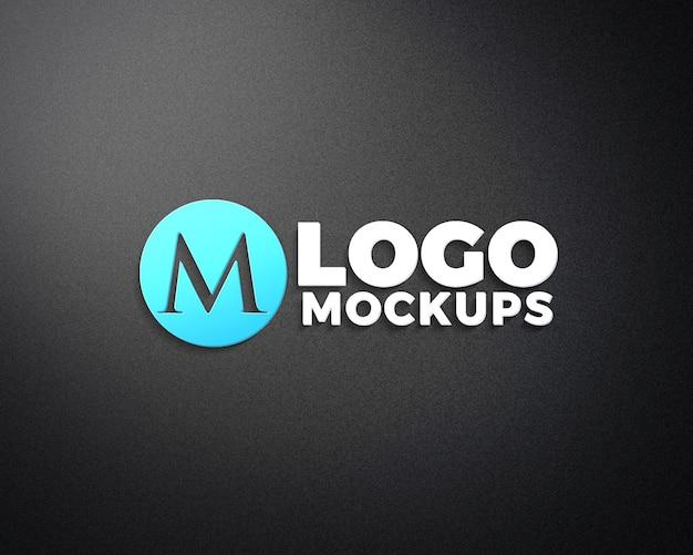 Realistyczne Makiety Logo 3d Premium Psd