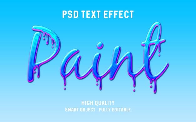 Realistyczny Efekt Tekstu Kapiącą Farbą Premium Psd