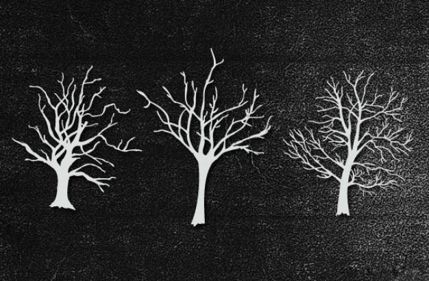 Ręcznie rysowane drzewa Darmowe Psd