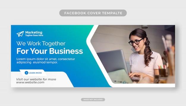 Reklama Biznesowa Dla Szablonu Projektu Okładki Na Facebooka Premium Psd