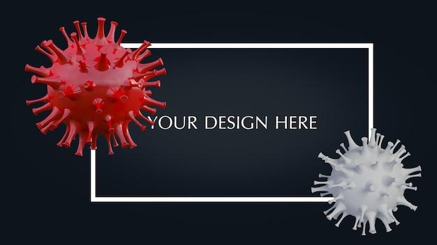 Renderowanie 3d Prostego Modelu Wirusa Covid-19 Premium Psd